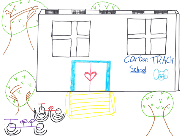 Drawing of sustainable school