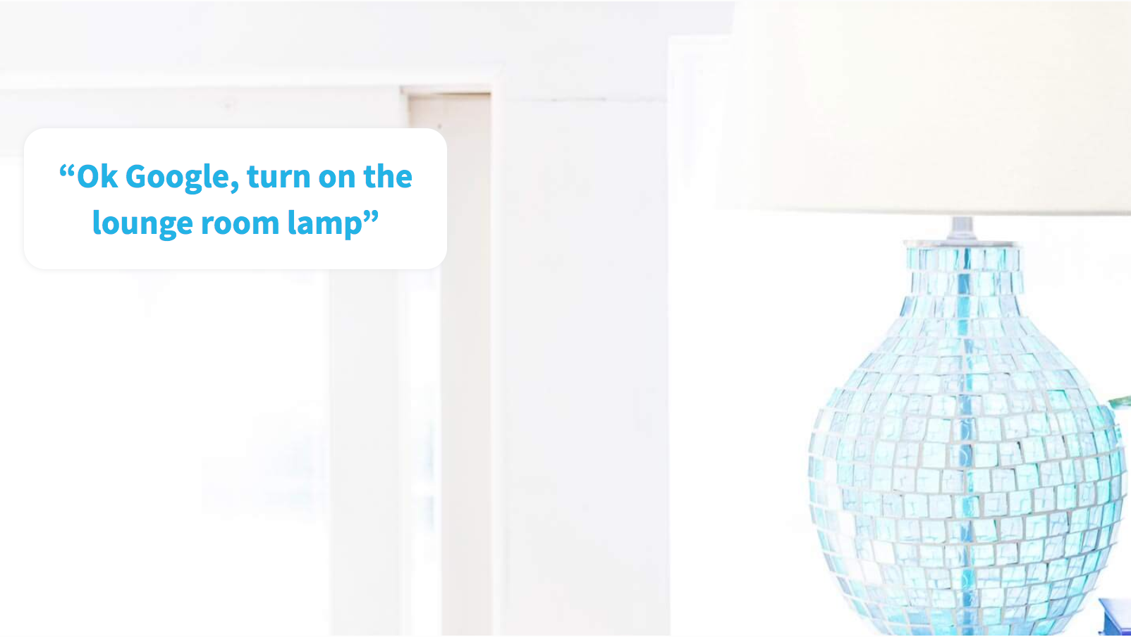 Infographic of Google turning on a lamp